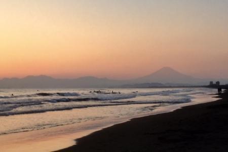 S20170104江の島の夕陽