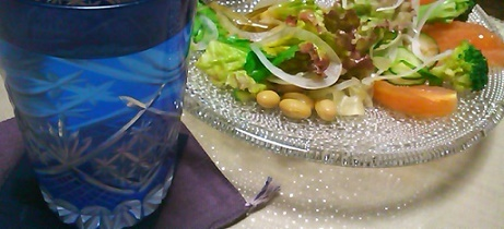 蒸し大豆のサラダ