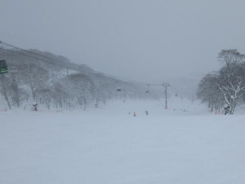 こちらももこもこ雪面