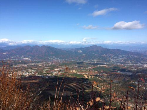 小野子山と子持山