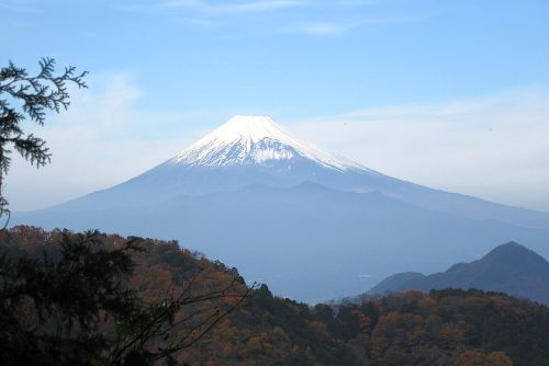 縦走路からみた富士山