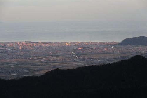 平塚の街の夕焼け