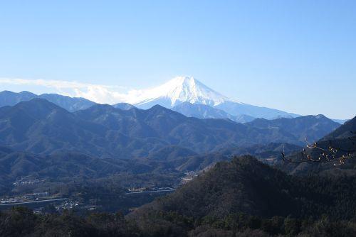 コヤシロ山から見た富士