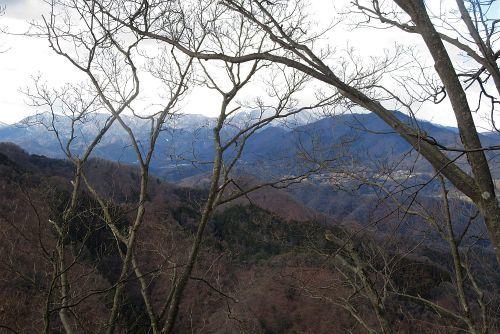 登山途中から見た扇山