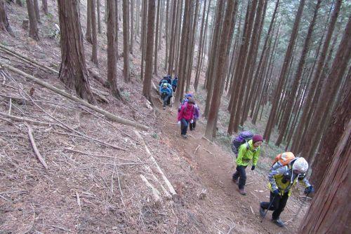榛名山への登り