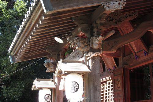 神社の彫刻