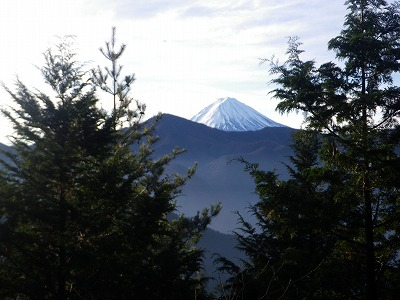 三ツ峠の向こうに富士山