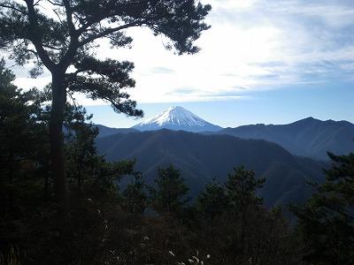 大栃からの富士山
