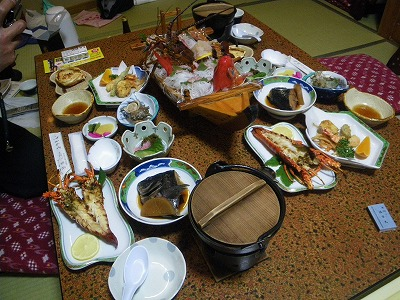 三楽荘夕食