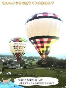 気球にも乗りました(遠すぎてケフィの姿が見えないけど)