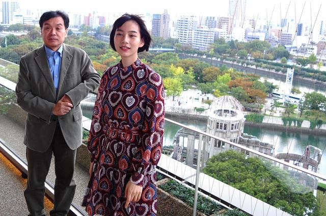 広島にてのんちゃんと監督