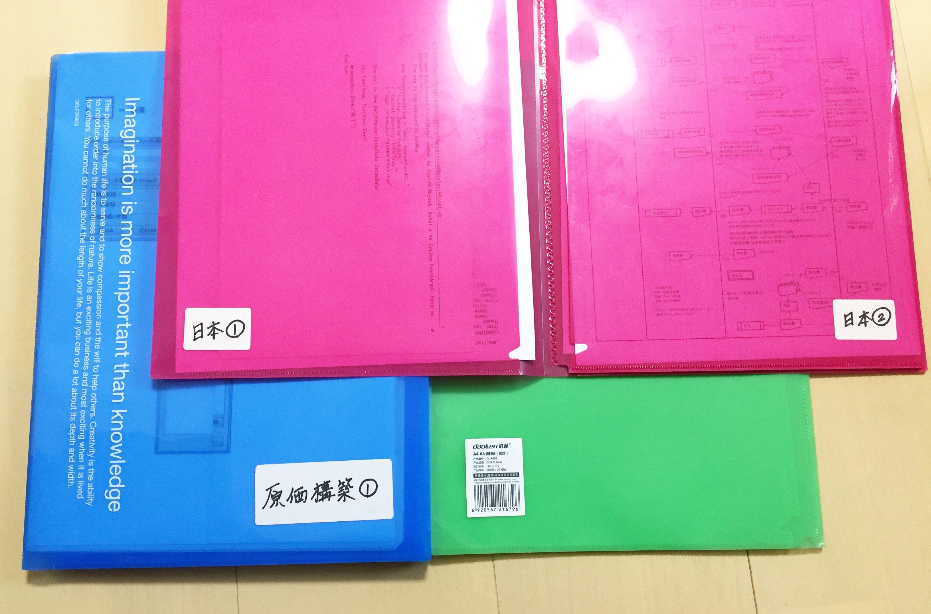 資料整理・管理ファイル 6ポケットA4ファイル
