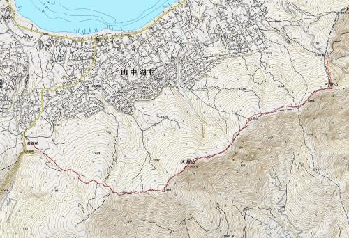 三国山稜軌跡