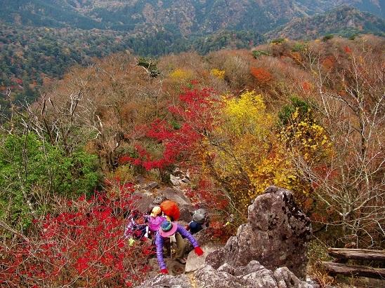 岩場登り英彦山