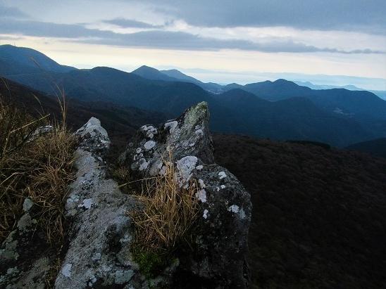 九千部岳稜線