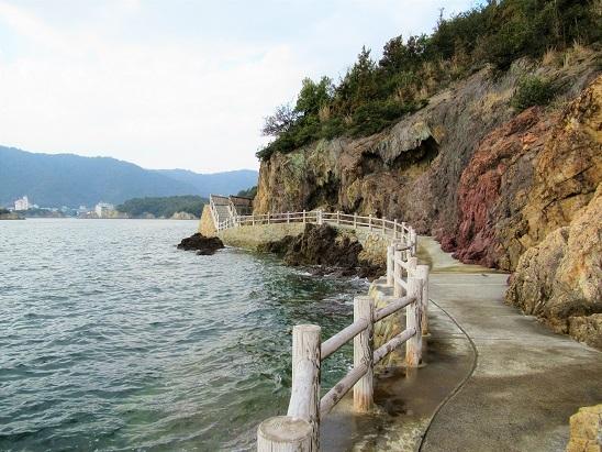 仙酔島海岸線