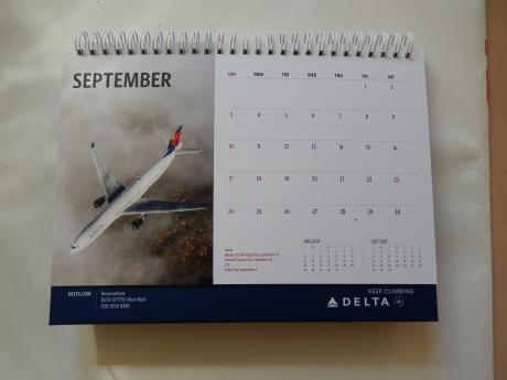 デルタ航空カレンダー2017