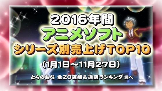 【ランク王国】2016年アニメ円盤売り上げTOP10発表! 3位劇場ガルパン、2位リゼロ