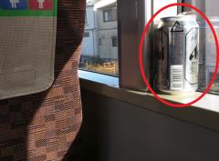 電車の中の空き缶