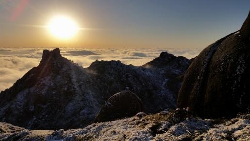 奥岳の山々