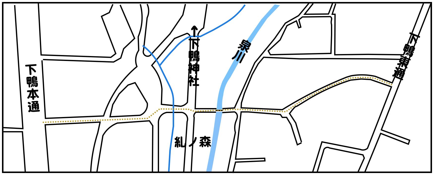 11糺ノ森突抜