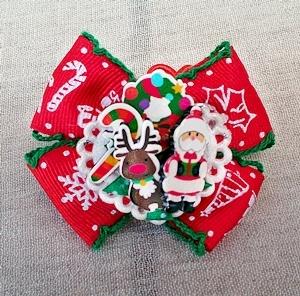 ★サンタとトナカイのクリスマスヘアゴム★
