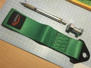 トーループ グリーン 牽引フック 競技用部品p1