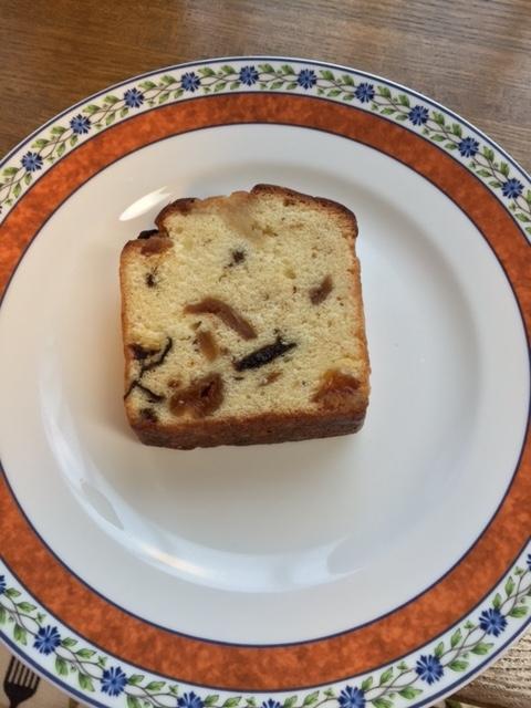 平成28年11月17日ドライフルーツのブランデーケーキ
