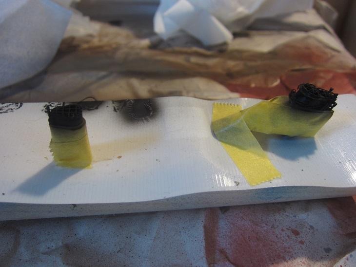 鳥海煙突の塗装