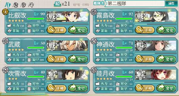 第二艦隊編成