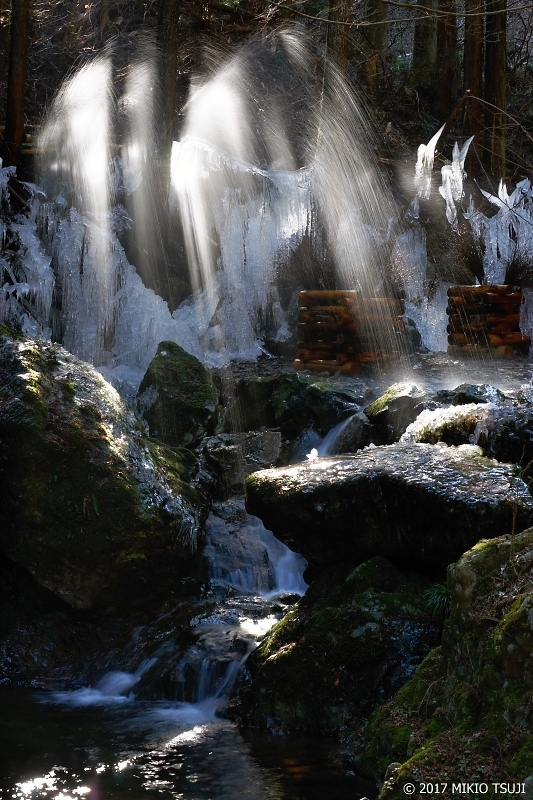 絶景探しの旅 - 0115 光と影、氷と水の大噴水 (払沢の滝付近/東京都 桧原村)