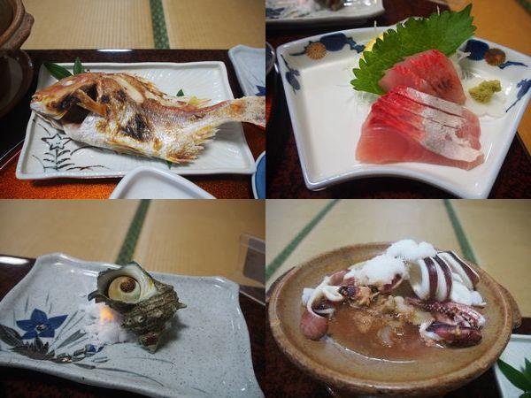 旅館松波の夕食