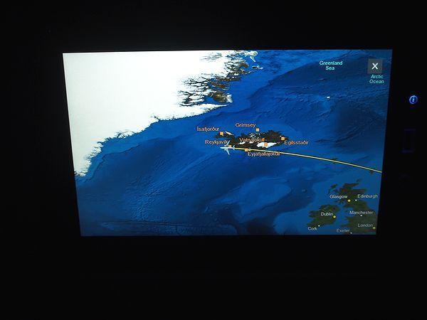 アイスランドに接近
