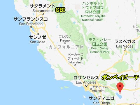 ボンベイビーチ地図