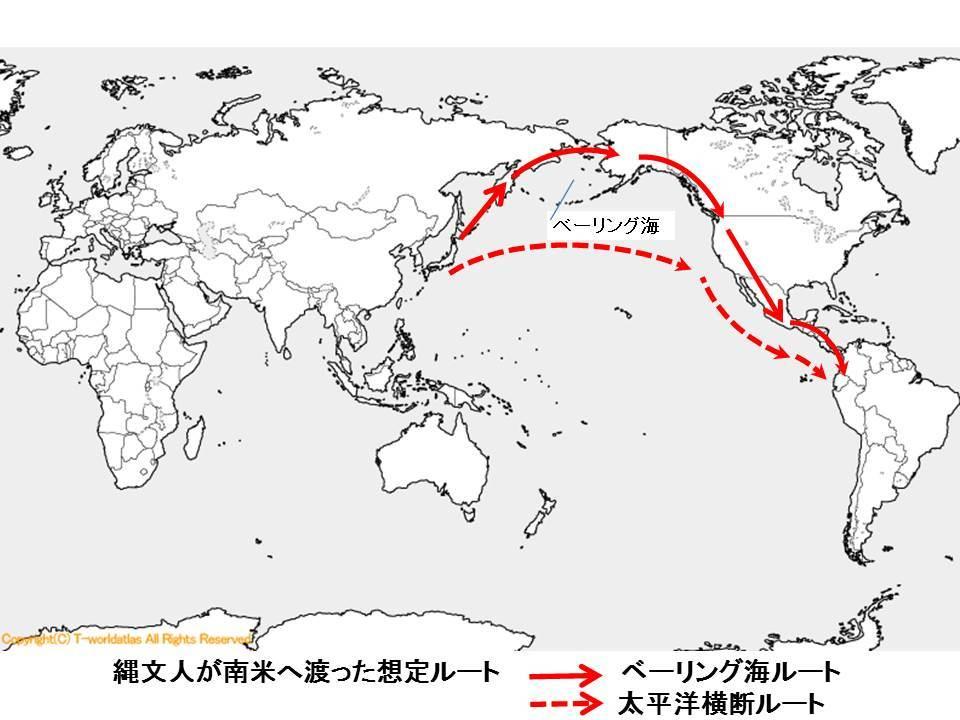 古代日本人横断ルート