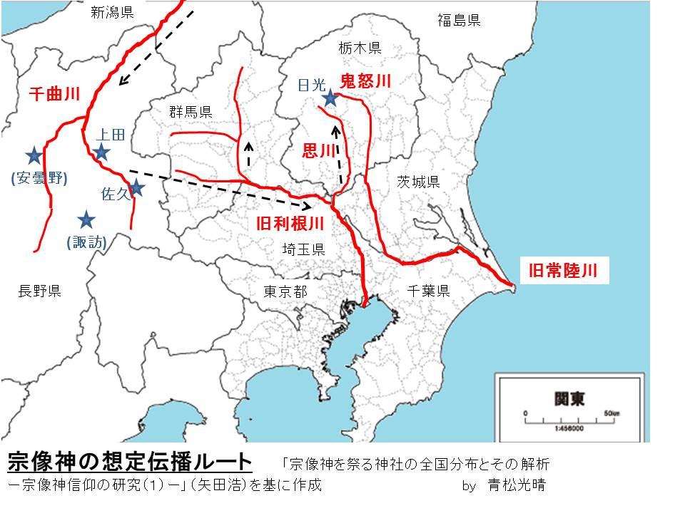 関東宗像神伝播ルート