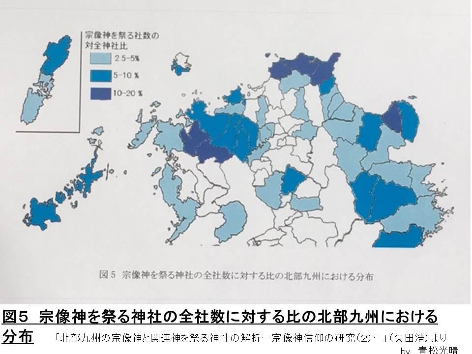 北部九州宗像神割合図
