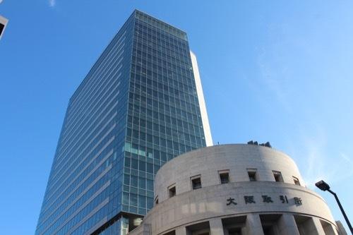 0185:大阪証券取引所 ガラス張りの高層棟