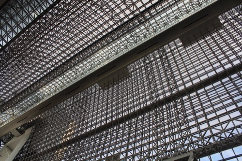 0211:JR京都駅ビル ガラス屋根②