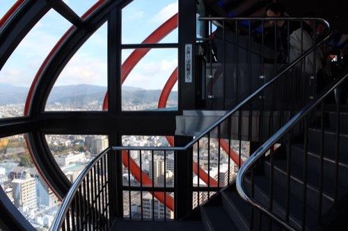 0212:京都タワー 展望室4・5階の階段①