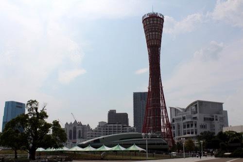 0223: 神戸ポートタワー 東側からタワーをみる①
