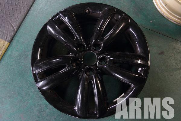 MIN クロスオーバー 純正ホイール ブラック塗装 5スター ダブルスポーク R124 17インチ