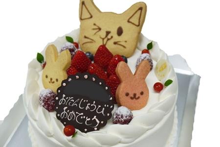 アニマルクッキー付バースデーケーキ