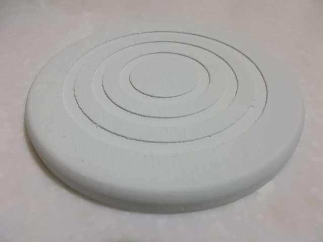 珪藻土コースター 丸型 開封、カラー:ホワイト