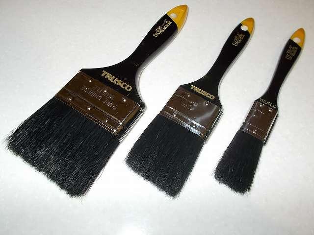 TRUSCO ダスター刷毛(はけ)356、1インチ25mm、2インチ 50mm、3インチ 75mm 開封