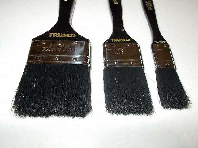 TRUSCO ダスター刷毛(はけ)356、1インチ25mm、2インチ 50mm、3インチ 75mm 豚毛