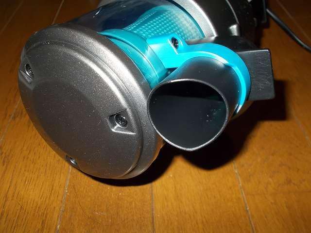 ツインバード TWINBIRD ハンディークリーナー ハンディージェットサイクロン EX HC-EB51GY、掃除機本体 底部、ブラシ・ノズル・パイプ差込口