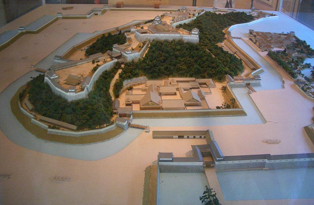 彦根城の復元模型