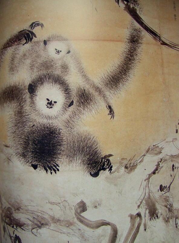 「枯木猿猴図」_右(拡大)