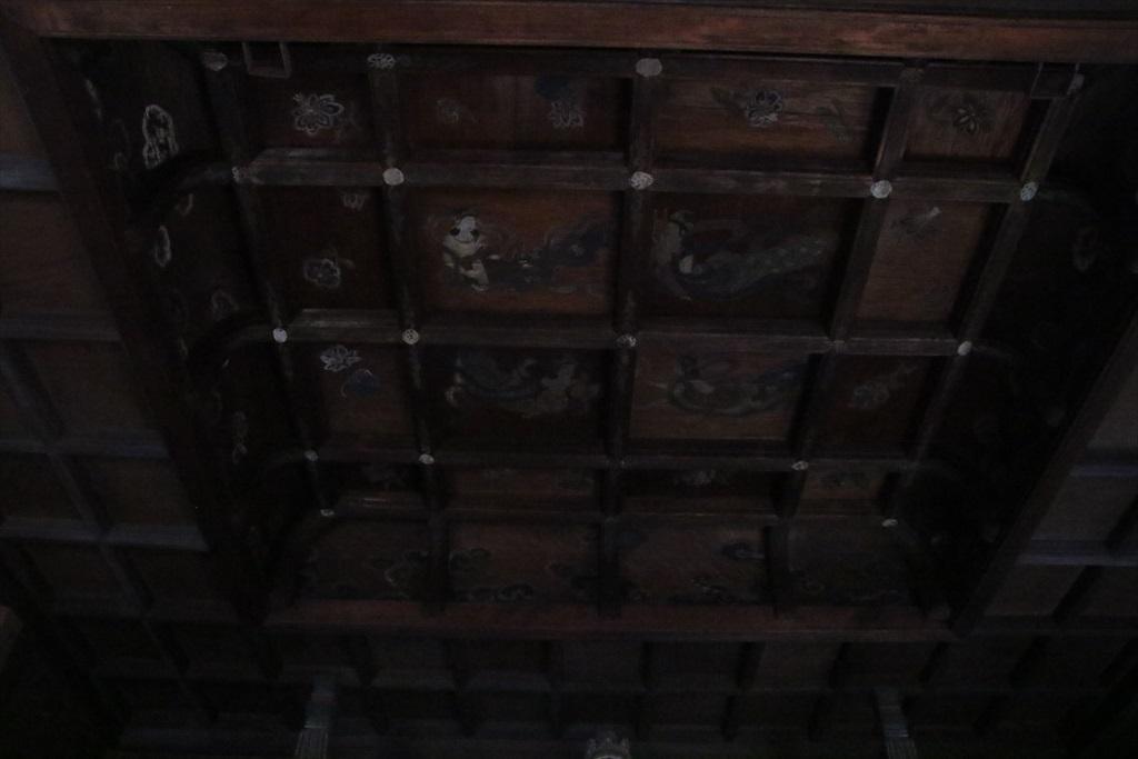 観音堂の天井